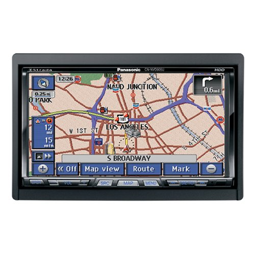 Panasonic CN-NVD905U Strada In-Dash Mobile Navigation System with 7-Inch Widescreen Color LCD Monitor/DVD Receiver