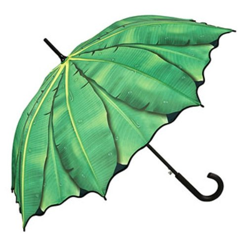 """(ヴォンリリアンフェルド)VON LILIENFELD """"Banana leaves""""  バナナの葉 晴雨兼用 ジャンプ傘"""