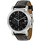 Tissot Carson Black Dial SS Leather Chrono Automatic Men's Watch T0684271605100