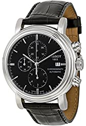Tissot Black Dial SS Leather Chronograph Automatic Men's Watch T0684271605100