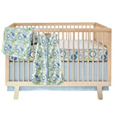 Skip Hop 4-Piece bumper-free Crib Bedding Set, Moving Gears