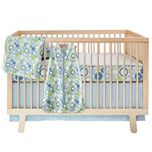 Skip Hop 4 Piece Bumper free Crib Bedding Set, Moving Gears