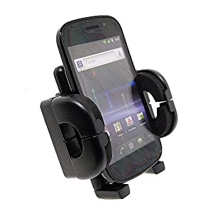 High Grade Samsung Galaxy W I8150 Mobile Phone Anti-Vibration Car Vent or Dash Mount Holder with Easy Release Functionality (for use with skin, hard shell or case)