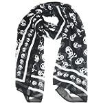 Coco Digital Black Chiffon Skull Prin...