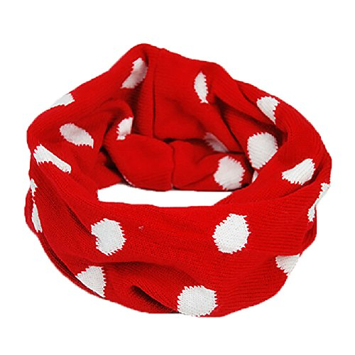 Deer Mum New Style Candy Color Infinity Circle Scarf For Lovely Babies And Kids-Red front-975744