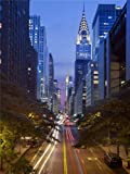 PHOTOGRAPHY CITYSCAPE CHRYSLER BUILDING 42ND STREET NEW YORK USA 18X24'' POSTER ART PRINT LV10668