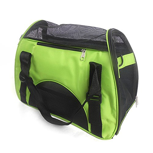 Petforu Pet Dog Cat Portable Comfortable Soft Sided Waterproof Carrier Should Bag Handbag-Small (Green, Large)