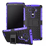 LG G4 Case, Sophia Shop Heavy Duty Tough Rugged Dual Layer Case with Built-in Kickstand, TANK Series Slim Fit Dual Layer Hybrid Armor Protective Case Cover for LG G4 ToughBox Carrier Compatibility AT&T, Verizon, T-Mobile, Sprint, And All International Carriers (Purple)