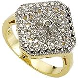 Diamonds by Ellen K. - 358270383V - Bague Femme - Argent 925/1000 3.2 gr - Diamant 0.0106 cts - 14 cm