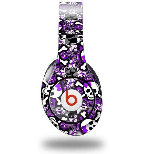 Splatter Girly Skull Purple Decal Style Skin (Fits Original Beats Studio Headphones - Headphones Not Included)