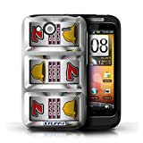 STUFF4 Phone Case Cover for HTC Wildfire SG13 Bars Design Slot Machine Collection