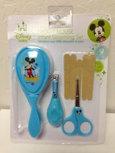 9 Piece Mickey Mouse Infant Grooming Set - Blue