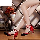 chaussures latines de la femme salle de bal pour adultes chaussures de danse La dame avec les chaussures fond mou
