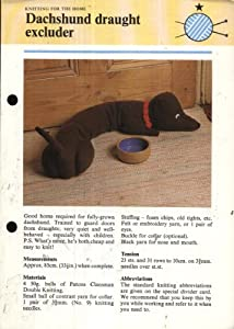 Knitting Pattern : Dachschund Draught Excluder 33.5in long ...