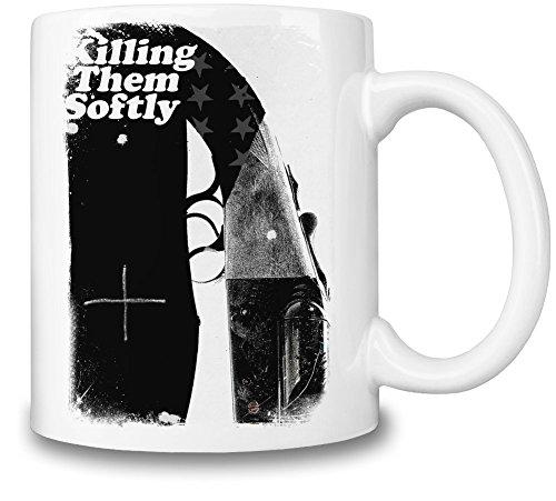 Killing Them Safely Blood Black Gun Tazza Coffee Mug Ceramic Coffee Tea Beverage Kitchen Mugs By Slick Stuff