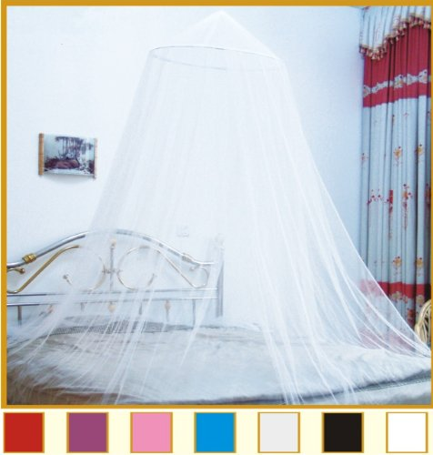 Finehome Bed Canopy Mosquito Net, One Size Fits All (White)