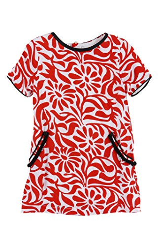 Little Marc Jacobs Short Sleeve T Dress -2 -Red