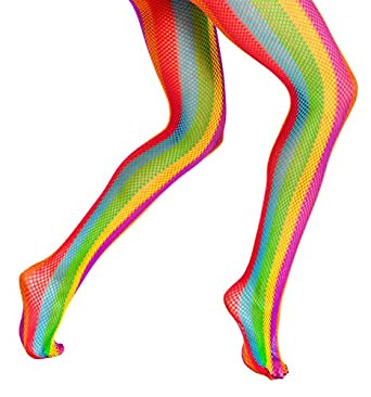 Adult Rainbow Fishnet Tight, 68054, multi-colored, One-Size at Amazon