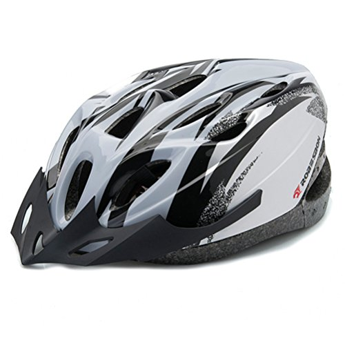New-Adult-Street-Bike-Bicycle-Cycling-Safety-Carbon-Helmet-with-Visor-Silver