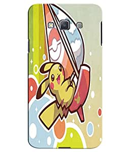 EU4IA Pikachu Pokemon Pattern MATTE FINISH 3D Back Cover Case For SAMSUNG GAL...