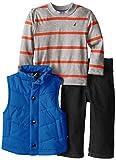Nautica Baby-Boys Infant 3 Piece Outerwear Vest Set, Cobalt, 12 Months
