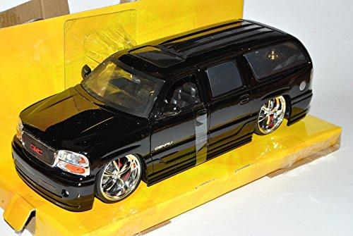 gmc-yukon-denali-schwarz-2000-2006-1-24-jada-modell-auto-mit-individiuellem-wunschkennzeichen