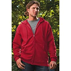 Hanes Ultimate Cotton Fleece Full-zip Men's Hooded Sweatshirt