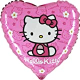 Pack of 3 - 18 Inch Hello Kitty Pink Heart Shaped Foil Balloon (CR14)