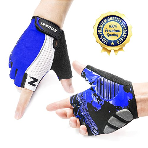 Zookki Cycling Gloves Mountain Bike Gloves Road Racing Bicycle Gloves Light Silicone Gel Pad Riding Gloves Half Finger Biking Gloves Men/Women Work Gloves (Cycling Road compare prices)