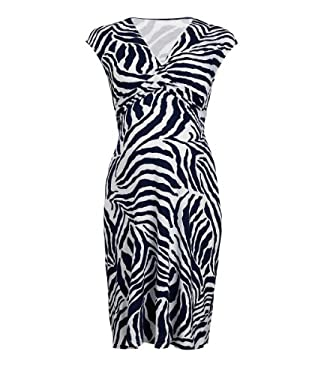 Maternity Zebra Print Wrap Dress