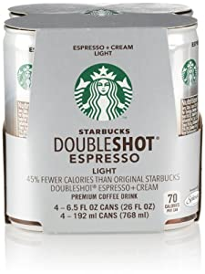 Starbucks Double Shot Espresso Light (4 Count, 6.5 Fl Oz Each)