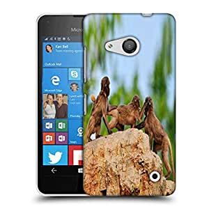 Snoogg Monkey Fighting Designer Protective Phone Back Case Cover For Nokia Lumia 550