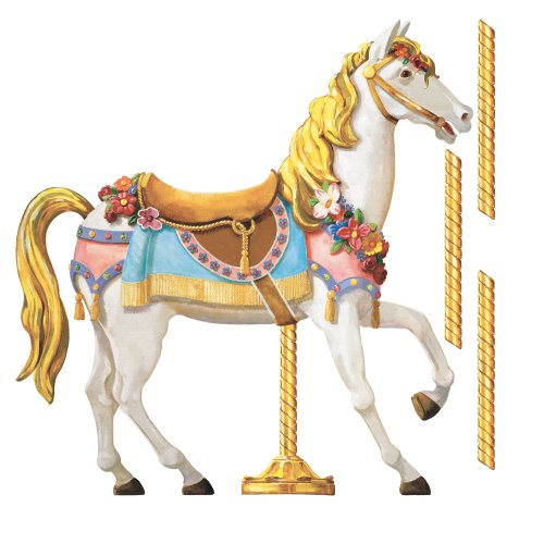 RoomMates RMK2039SLM Carousel Horse Peel and Stick Giant Wall Decals
