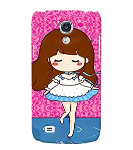 Fuson 3D Printed Girly Designer back case cover for Samsung Galaxy S4 - D4582