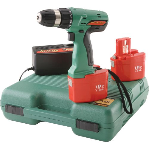 Grizzly H7795 18V Deluxe Cordless Dril Length With Grip
