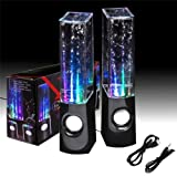 Flylinktech® Mini Computer Speakers LED Light Dancing Water Show Music Fountain For Laptop PC