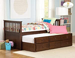 Homelegance Zachary Twin/Twin Trundle Bed in Espresso from Homelegance