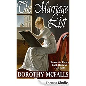 The Marriage List: full-length sweet historical romance (English Edition)