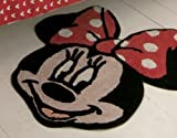 MINNIE MOUSE RED LARGE RUG MAT OFFICIAL LICENSED WALT DISNEY 100% COTTON 85CM