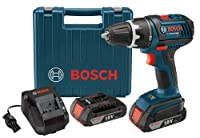 Bosch DDS181-02 18-Volt Lithium-Ion 1/2-Inch Compact Tough Drill/Driver Kit with 2 High Capacity Batteries, Charger and Case from Bosch