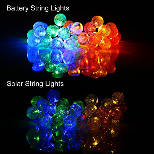 Globe String Lights Battery Operated Leds : [Rechargeable Battery Included]Battery Operated Christmas String Lights with ... eBay