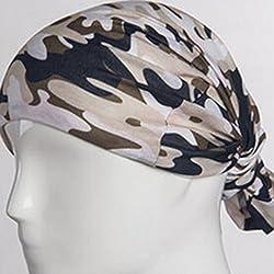 DEHANG Unisex Multi-functional Magic Turban Scarf Anti-ultraviolet Veil Adsorption Perspiration Kerchief by DEHANG