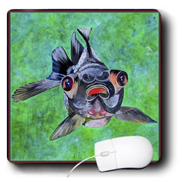 Mp_48473_1 Taiche - Acrylic Painting - Blackmoor Goldfish - Blackmoor Goldfish- Blackmoor Goldfish, Telescope Goldfish, Goldfish, Dragon Eye Goldfish - Mouse Pads