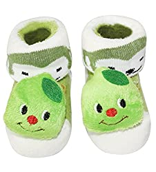 Wonderkids Green Caterpillar Baby Socks Booties