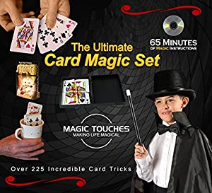 MAGIC CARD TRICKS SET - The Ultimate Card Magic Tricks Set for Kids and Grown-ups Alike - Over 300 Incredible Card Tricks Revealed and Explained in This Amazing Magic Set - This Ultimate Card Magic Kit is Made in USA and Includes a Special 65 Minute Card