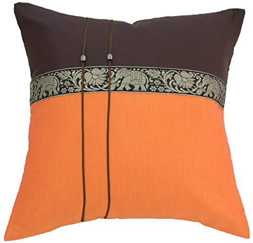 Avarada Elephant Throw Pillow Cover Decorative Sofa Couch Cushion Cover Zippered 16x16 Inch