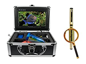 "Blueskysea Free Gift Gel Pen + Professional Fish Finder Underwater Fishing Video Camera 7"" Color HD Monitor (15m)"