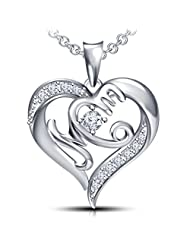 Special Offer For Mother's Day From Vorra Fashion White Platinum Plated 925 Sterling Silver Round Cut CZ Heart...