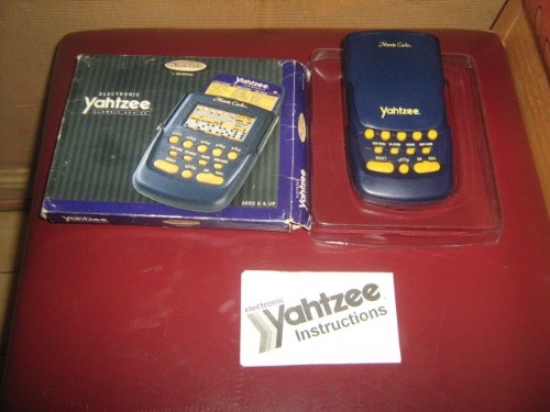 1995 Milton Bradley Radica USA Monte Carlo Yahtzee LCD Game Model#3905GB - 1