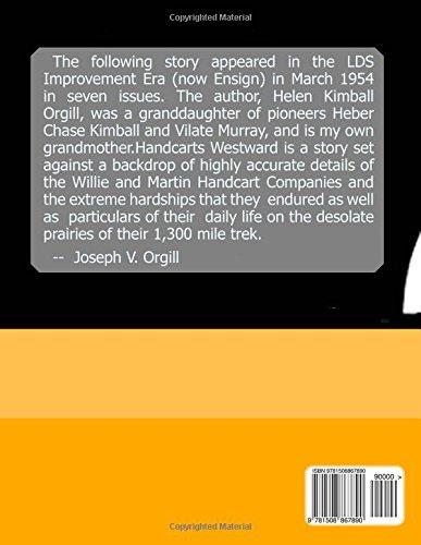 Handcarts Westward: Willie and Martin Handcart: a Story: Volume 4 (Book of Joe)